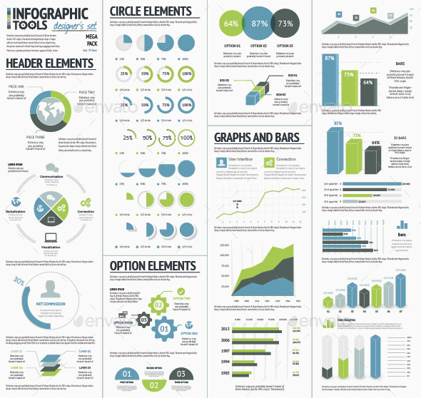 Infographic Tools Designer's Kit Recolored - Infographics