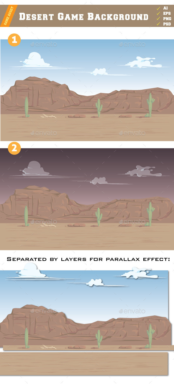 Desert Game Background - Backgrounds Game Assets