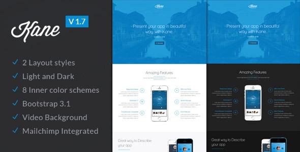 Kane – Responsive Bootstrap 3 App Landing Page