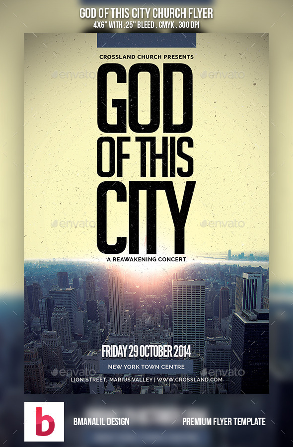 God of This City Church Flyer - Church Flyers