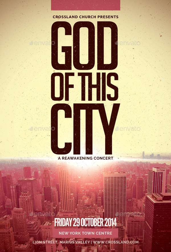 god of this city church flyer by bmanalil
