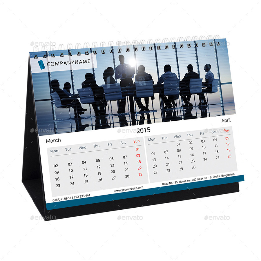 Corporate Calendar Design : Corporate desk calendar design by designdash