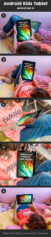 Kids Tablet Mockup - Mobile Displays