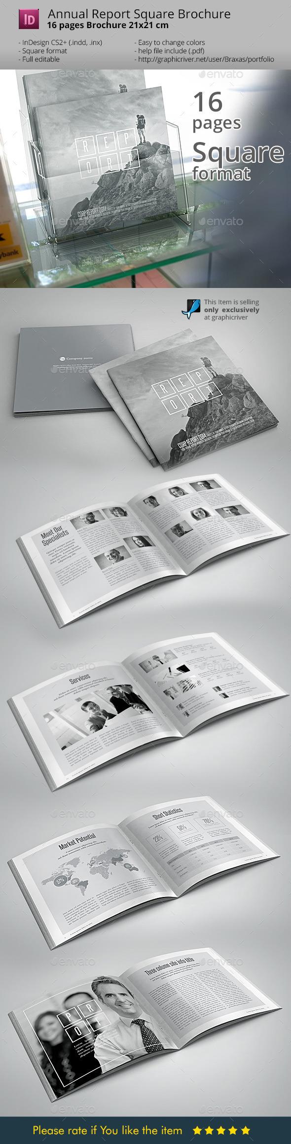 Annual Report Black & White design - Informational Brochures