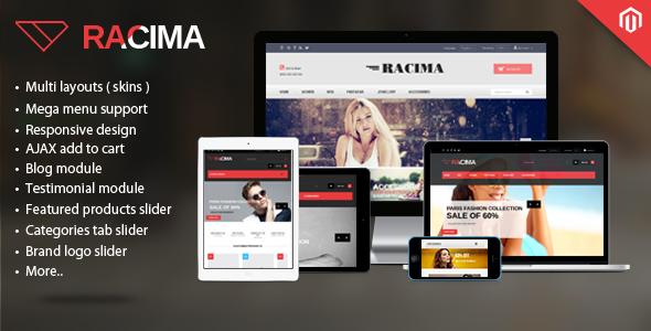 Racima – Multi Stores Responsive Magento Theme