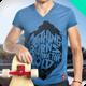 T-Shirt Vneck Man Mock-up