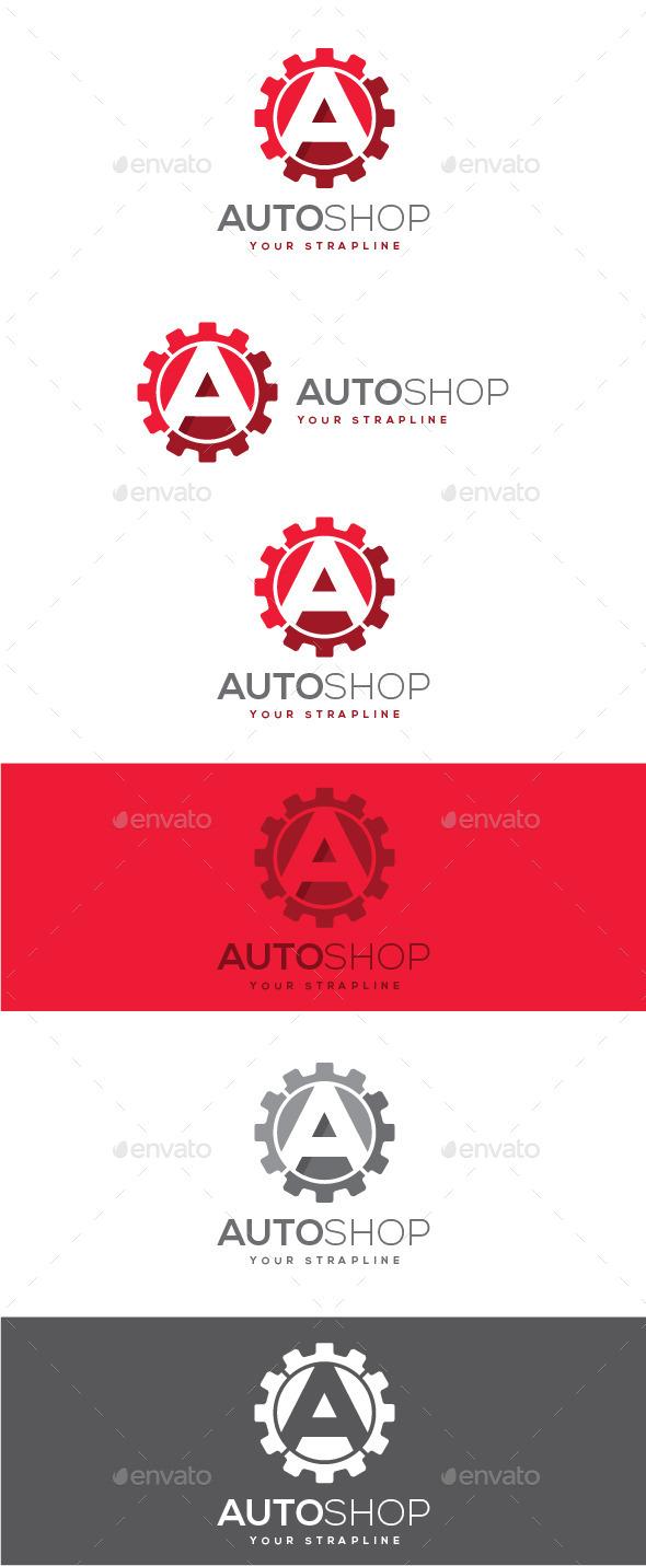 Auto Shop Letter A Logo - Letters Logo Templates