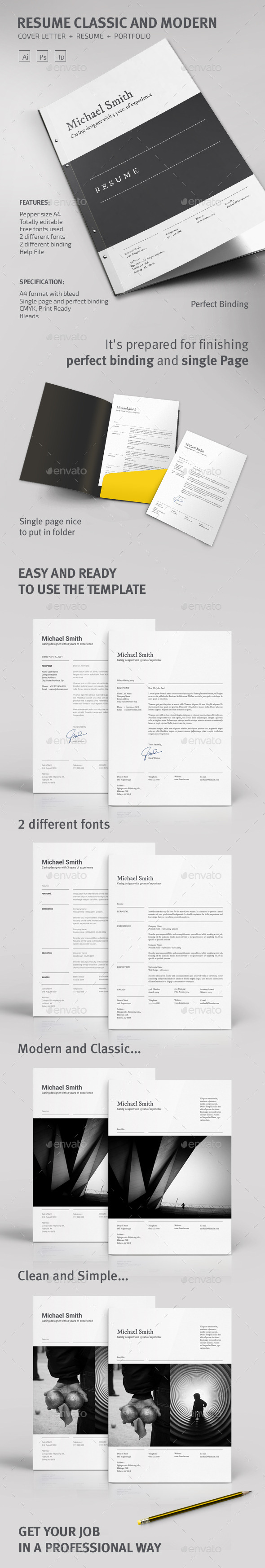 Resume Classic and Modern - Resumes Stationery
