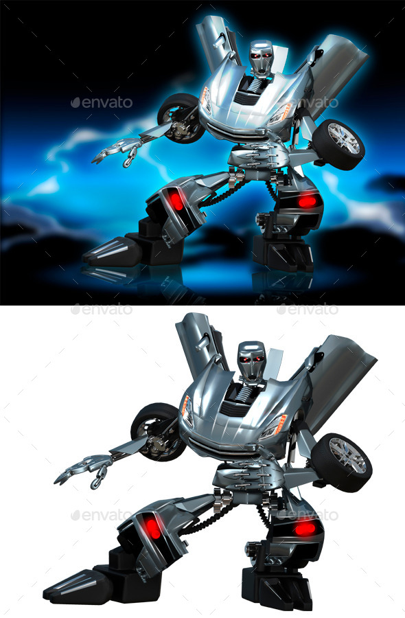 Robot Transformer - Technology 3D Renders