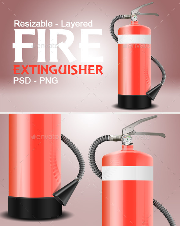 Fire Extinguisher - Objects Illustrations