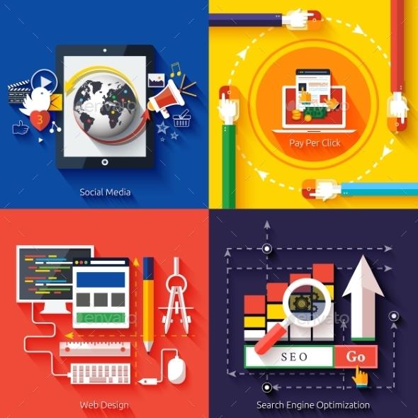 Icons for Web Design Seo Social Media - Web Technology