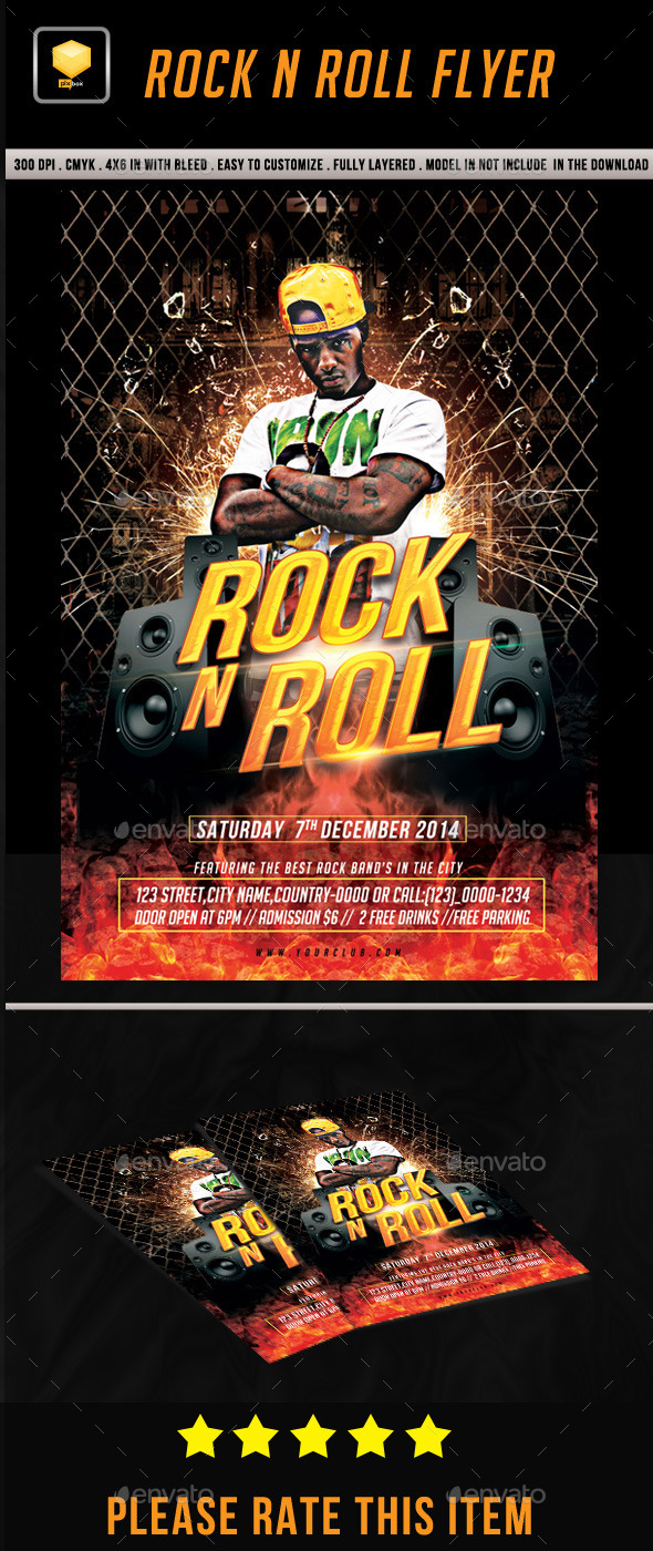 Rock n Roll Flyer - Clubs & Parties Events