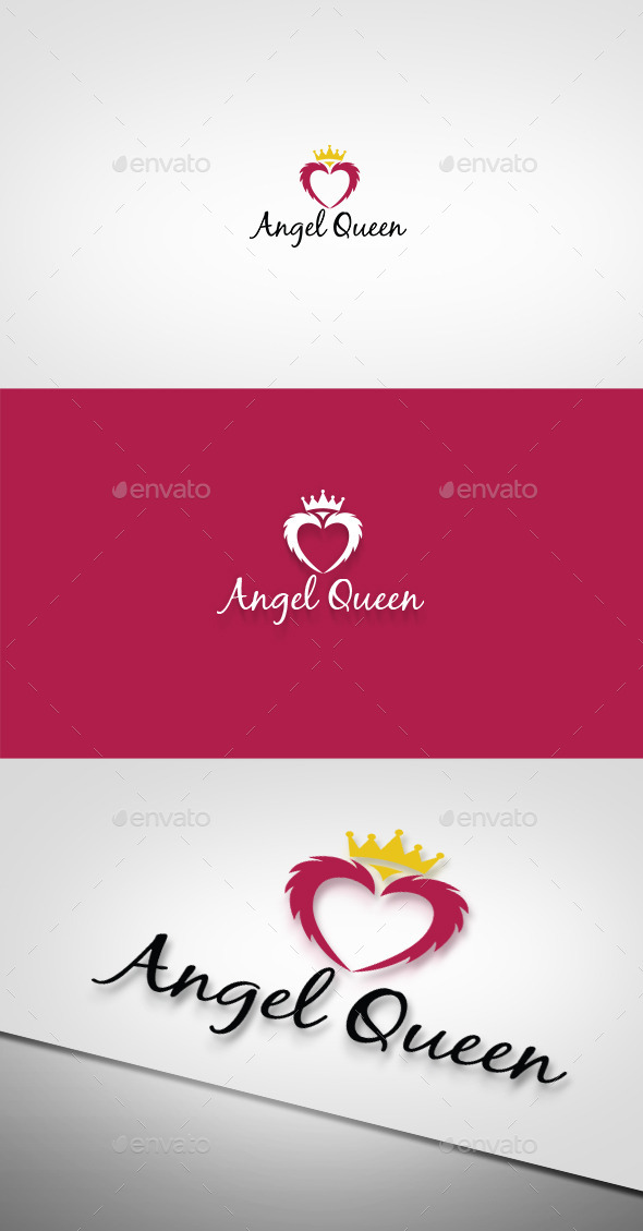 Angel Queen Logo - Objects Logo Templates