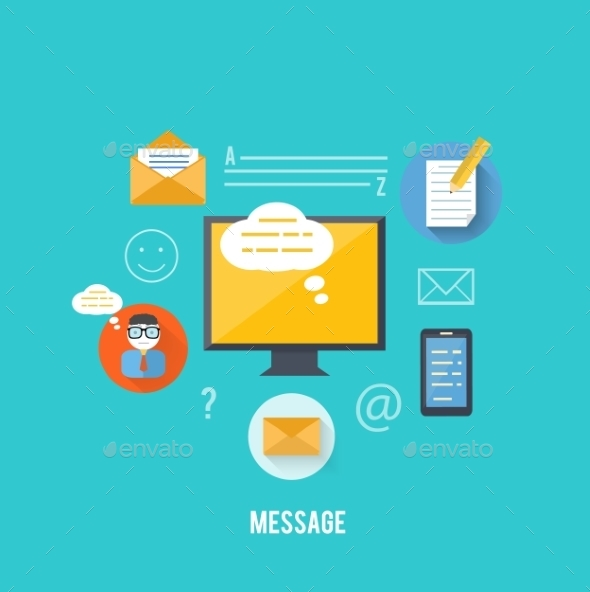 Concept of Message and Email Technology - Technology Conceptual