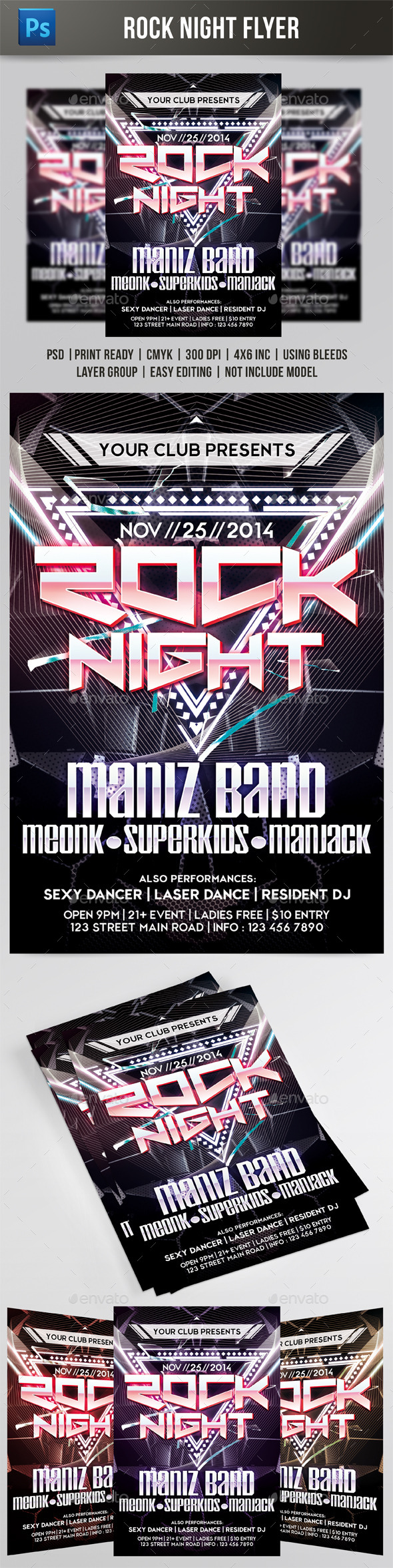 Rock Night Flyer - Events Flyers
