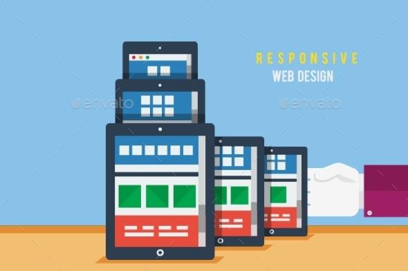 Responsive Web Design Concept - Web Technology