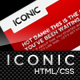 Iconic, a bold new professional web layout. - 24