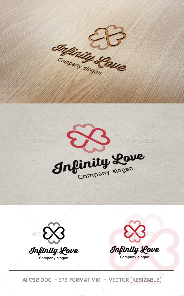 Infinity Love Logo - Abstract Logo Templates