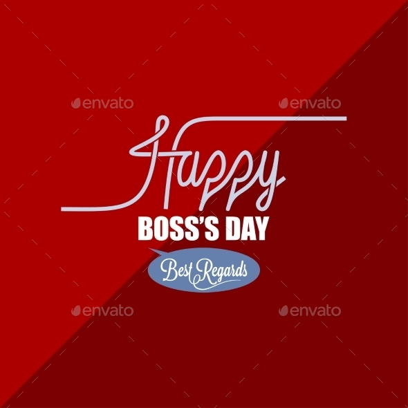 Boss Day Vintage Background - Seasons/Holidays Conceptual