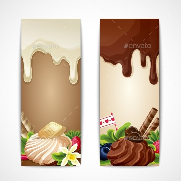 Chocolate Banners Vertical - Food Objects