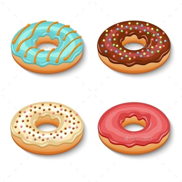 Donut Dessert Set - Food Objects