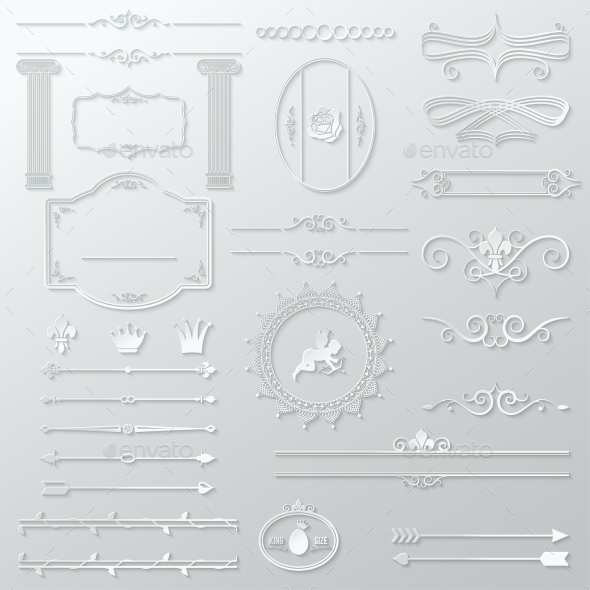 Ornate Design Elements Paper Set - Abstract Conceptual