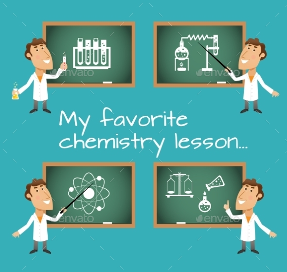 Chemistry Lesson Chalkboards - Miscellaneous Vectors