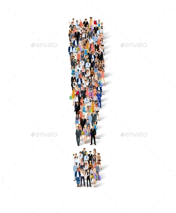 Group of People Exclamation Poster - Concepts Business