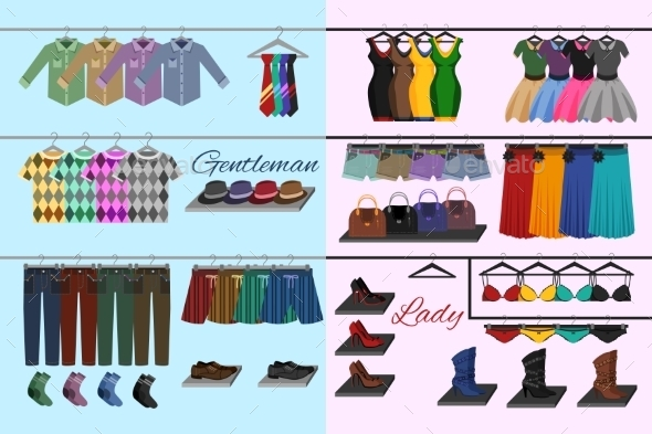 Clothes Shop Concept - Retail Commercial / Shopping
