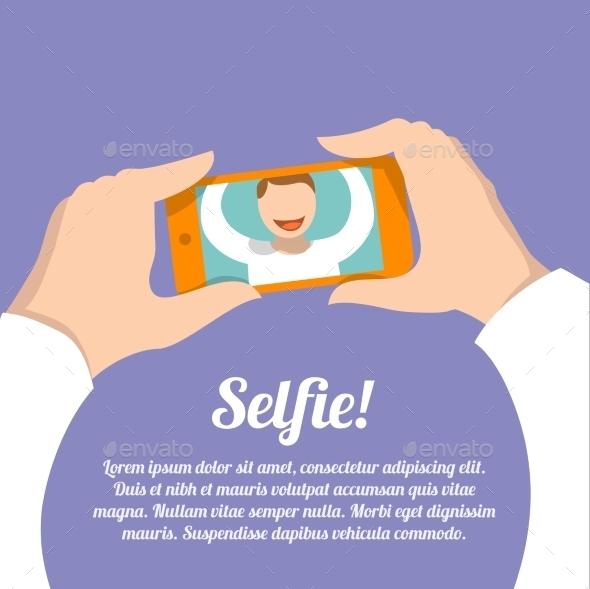 Selfie Self Portrait Poster - Concepts Business