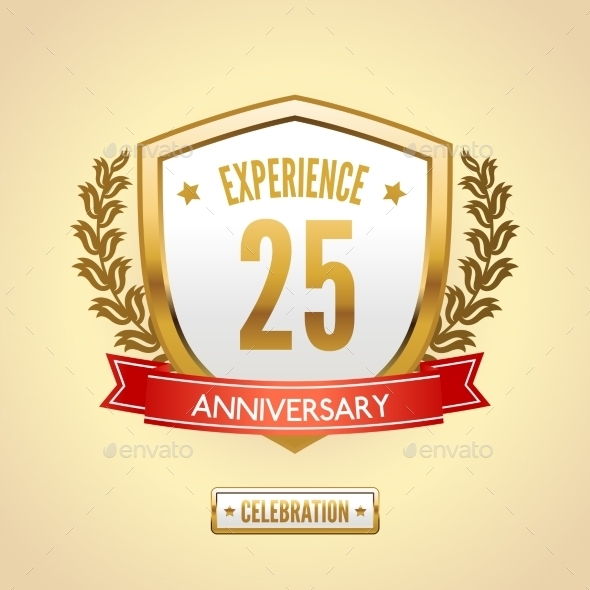 Anniversary Label Shield - Miscellaneous Seasons/Holidays