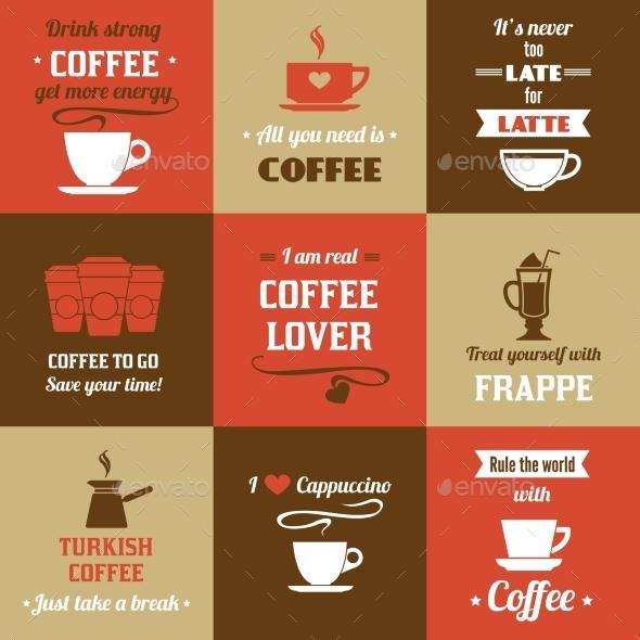 Coffee Mini Poster Set - Food Objects