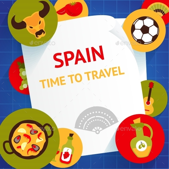Spain Background Template - Travel Conceptual