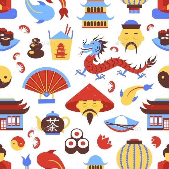 China Seamless Pattern - Backgrounds Decorative