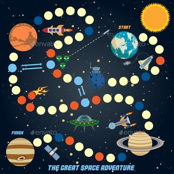 Space Quest Game - Miscellaneous Vectors