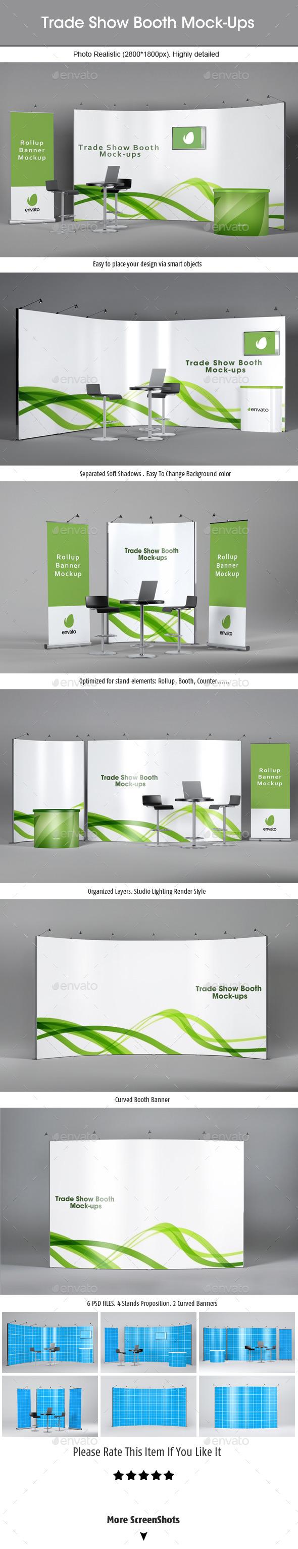 Trade Show Booth Mockups v2 - Signage Print