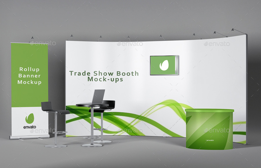 Exhibition Booth Mockup Free Download : Trade show booth mockups v by redone graphicriver