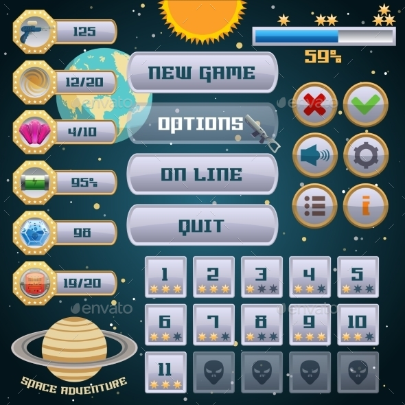 Space Game Interface Design - Web Technology