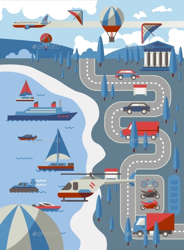 City Transport Concept - Travel Conceptual