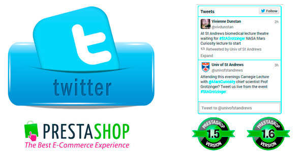 Tweet Feed Prestashop Twitter Timeline Widget - CodeCanyon Item for Sale