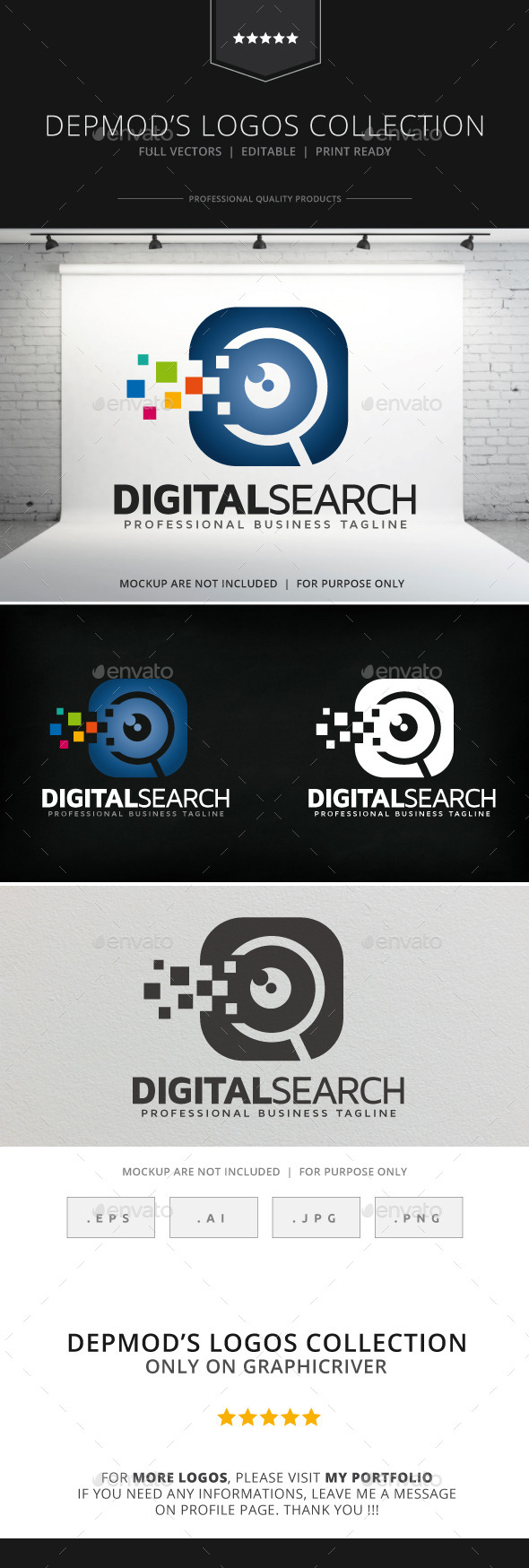 Digital Search Logo - Symbols Logo Templates