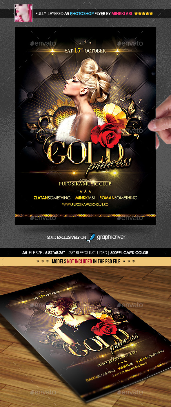 Gold Princess Poster/Flyer - Events Flyers
