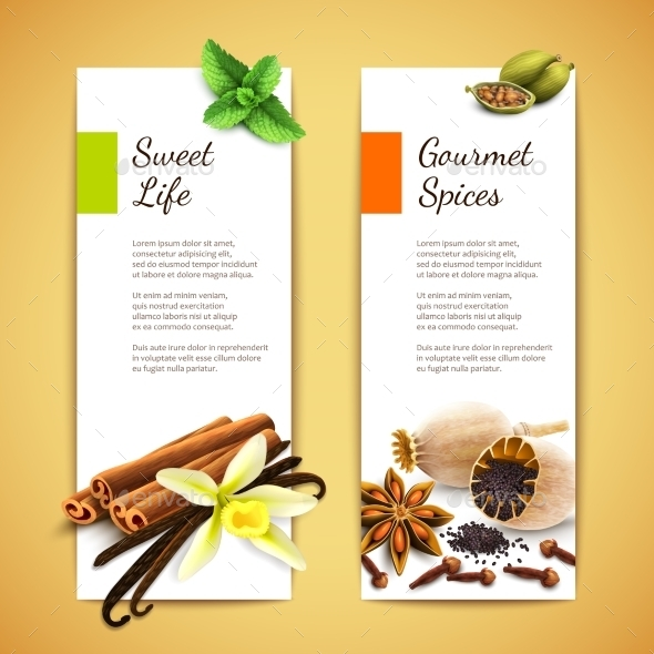 Spices Banners Vertical - Borders Decorative
