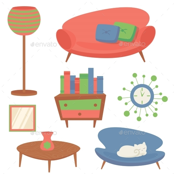 Interior Design Elements - Miscellaneous Vectors