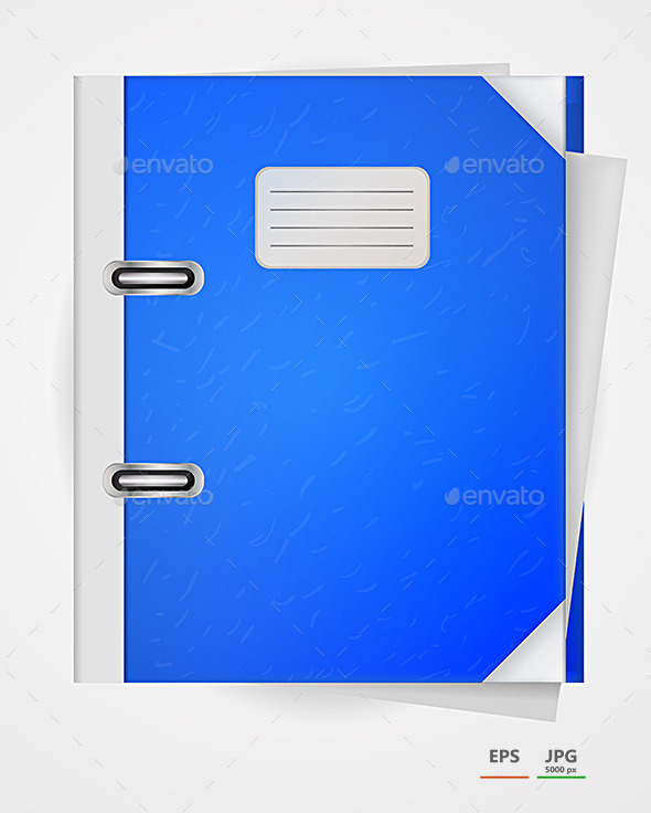 Vector Illustration of Blue Folder. - Concepts Business