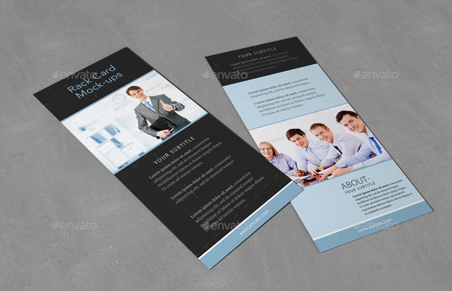 Rack Card MockUp By Redone GraphicRiver - 4x9 rack card template