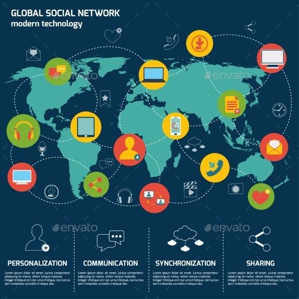 Social Network Infographics - Infographics