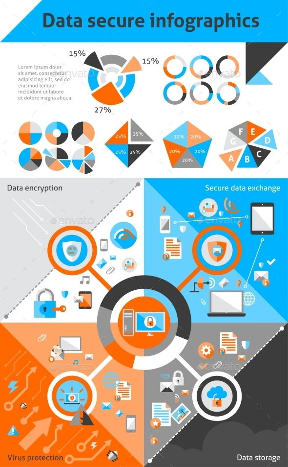 Data Secure Infographics - Infographics