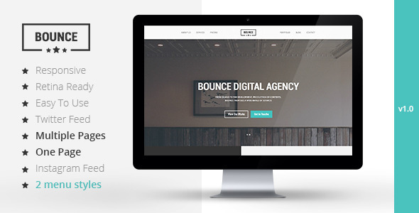 BOUNCE – Responsive Multipurpose Template