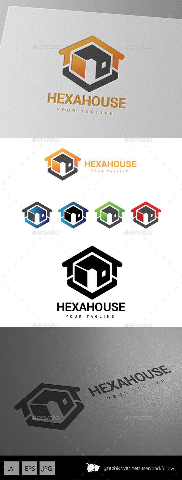 Hexa House Realty Property Logo - Symbols Logo Templates